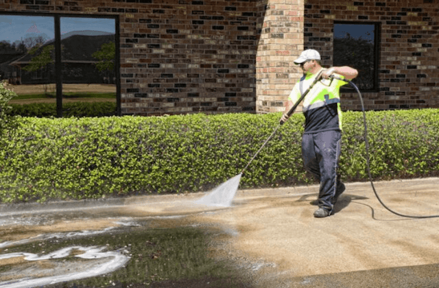 commercial concrete cleaning in fullerton